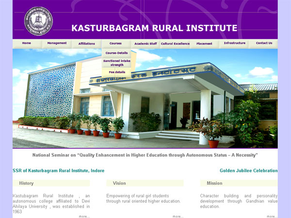 Kasturba Gram Rural Institute, Indore